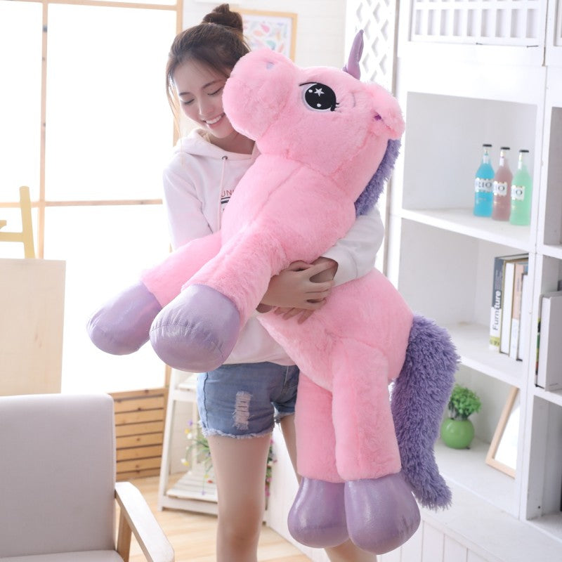 giant stuffed unicorn soft plush toy way up gifts. Black Bedroom Furniture Sets. Home Design Ideas