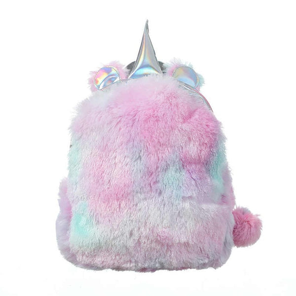 Plush Unicorn Backpack Pink Women > Accessories > Backpacks > Unicorn Backpacks - Way Up Gifts