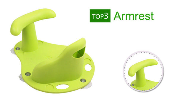 Anti-Slip Baby Bath Seat with Arm Rest
