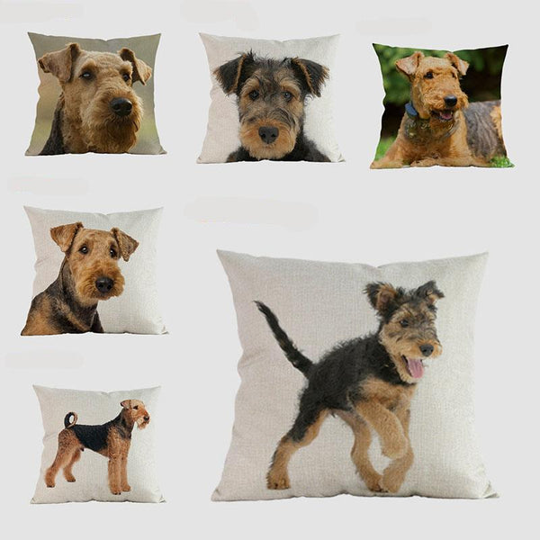 Airedale Pillow  Home > Throw Pillows > Dog Throw Pillows - Way Up Gifts