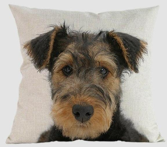 Airedale Pillow - Way Up Gifts