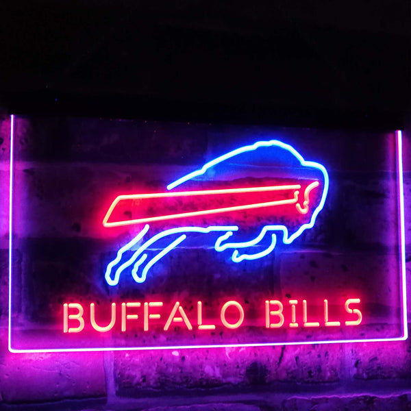"Buffalo Bills LED Neon Light Sign Blue and Red / 12x8"" Landscape Business > LED Signs > Dual Color Neon Signs > NFL Neon Signs - Way Up Gifts"