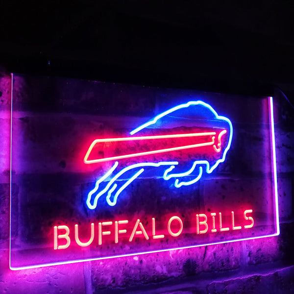 Buffalo Bills LED Neon Light Sign  Business > LED Signs > Dual Color Neon Signs > NFL Neon Signs - Way Up Gifts