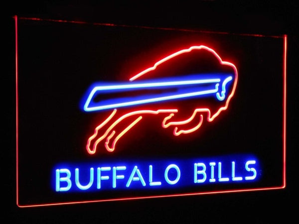 Buffalo Bills LED Neon Light Sign Red and Blue / 12x8