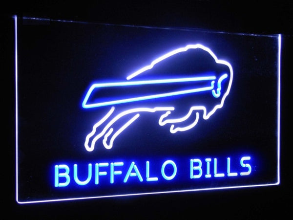 Buffalo Bills LED Neon Light Sign White and Blue / 12x8