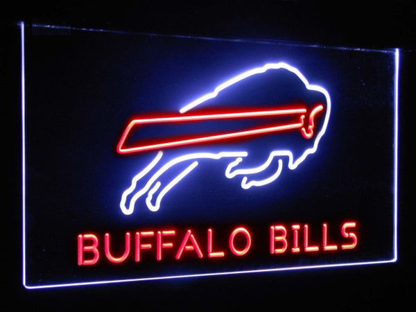 Buffalo Bills LED Neon Light Sign White and Red / 12x8