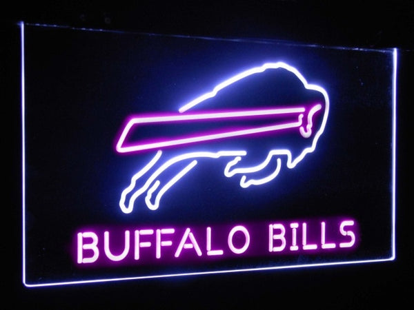 Buffalo Bills LED Neon Light Sign White and Purple / 12x8
