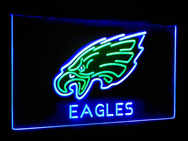 Philadelphia Eagles LED Neon Light Sign Green and Blue / 12x8