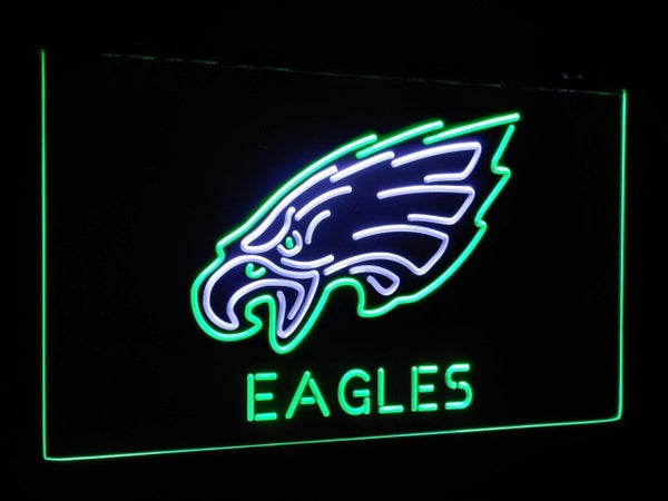 Philadelphia Eagles LED Neon Light Sign White and Green / 12x8