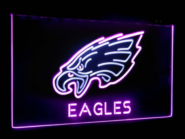 Philadelphia Eagles LED Neon Light Sign White and Purple / 12x8