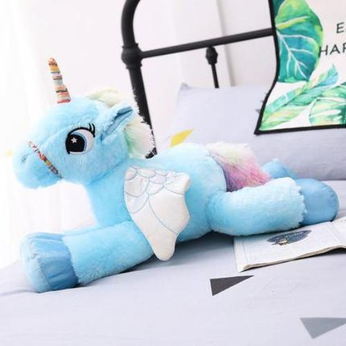 Giant Stuffed Unicorn Pony w/ Wings Plush Toy Animal