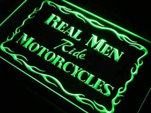 Real Men Ride Motorcycles LED Neon Light Sign  Business > LED Signs > Uncategorized Neon Signs - Way Up Gifts