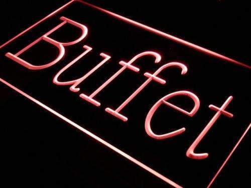 Restaurant Buffet LED Neon Light Sign - Way Up Gifts