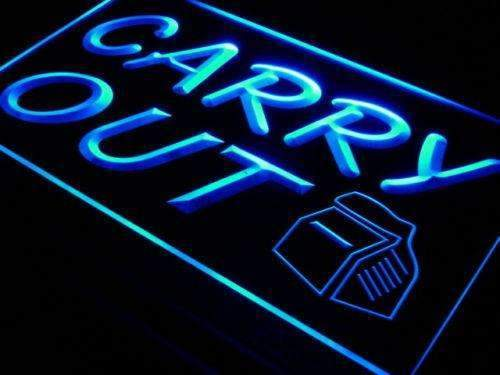 Restaurant Food Take Away Carry Out LED Neon Light Sign - Way Up Gifts