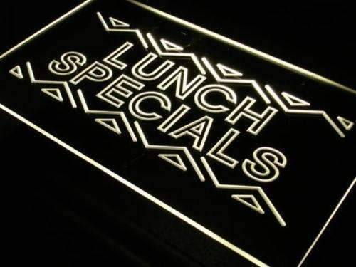 Restaurant Lunch Specials LED Neon Light Sign - Way Up Gifts