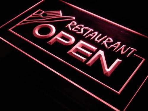 Restaurant Open LED Neon Light Sign - Way Up Gifts