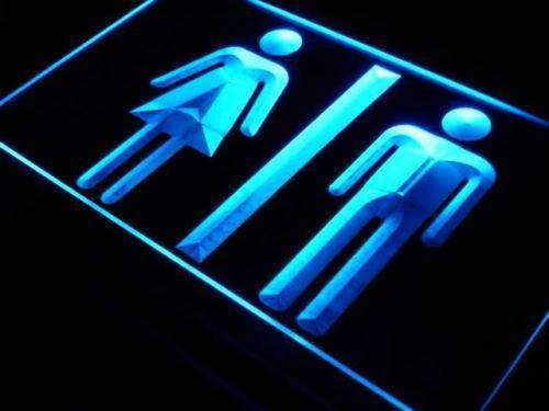 Restrooms Display LED Neon Light Sign - Way Up Gifts