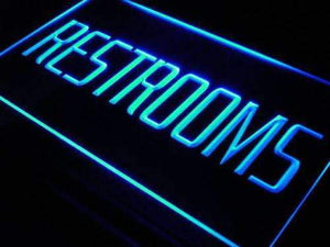 Restrooms Neon Sign (LED)-Way Up Gifts