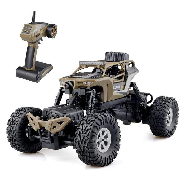 RC Rock Crawler Offroad Remote Control Car 1:16 Brown Kids > RC Electronics > RC Cars - Way Up Gifts