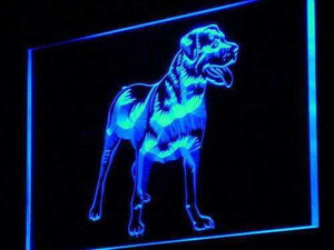 Rottweiler Dog Neon Sign (LED)-Way Up Gifts