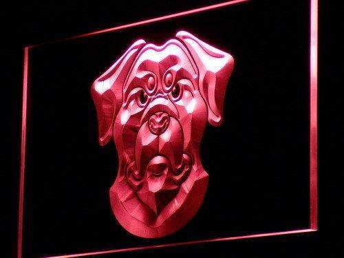 Rottweiler Head LED Neon Light Sign - Way Up Gifts