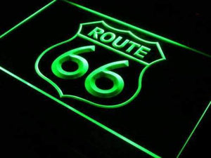 Route 66 Neon Sign (LED)-Way Up Gifts