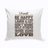 Personalized Rustic Family Rules Throw Pillow - Way Up Gifts