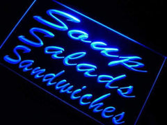 Soups Salads Sandwiches LED Neon Light Sign