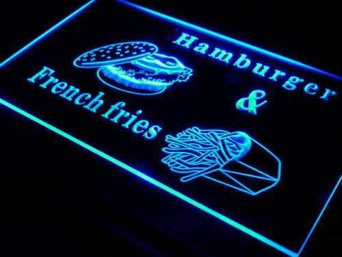 Hamburger French Fries LED Neon Light Sign - Way Up Gifts