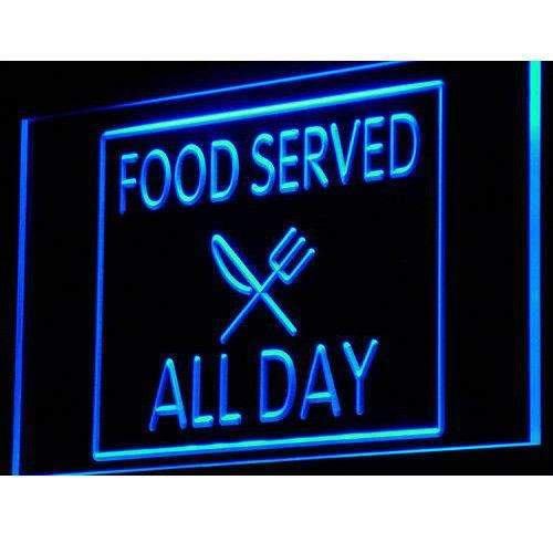 Food Served All Day LED Neon Light Sign - Way Up Gifts