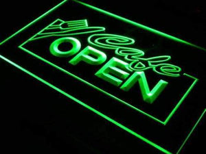 Cafe Open Neon Sign (LED)-Way Up Gifts