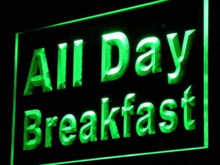 All Day Breakfast LED Neon Light Sign - Way Up Gifts