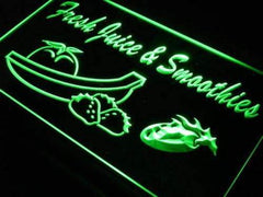 Cafe Fresh Juice Smoothies LED Neon Light Sign