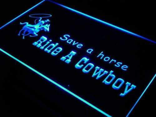 Save a Horse Ride a Cowboy LED Neon Light Sign - Way Up Gifts
