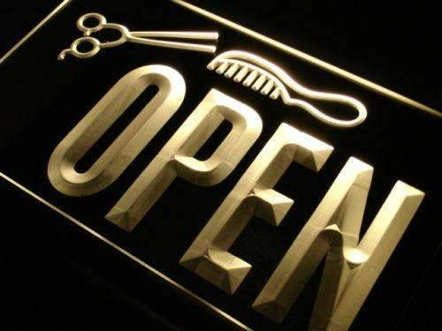 Scissors Comb Barber Open LED Neon Light Sign - Way Up Gifts