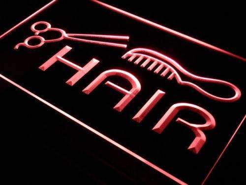 Scissors Comb Hair Cut Neon Sign (LED)-Way Up Gifts