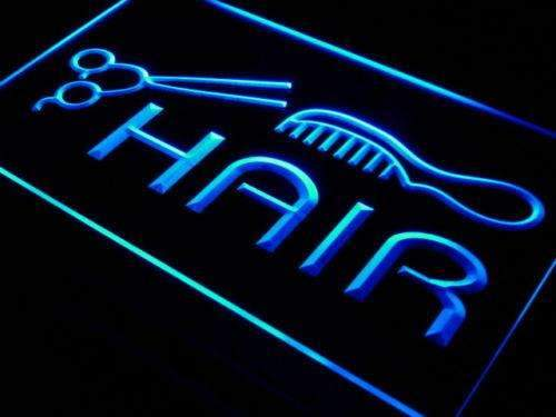 Scissors Comb Hair Cut LED Neon Light Sign - Way Up Gifts