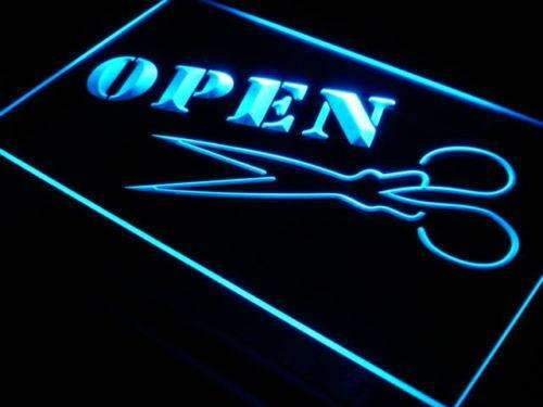 Scissors Hair Cut Open LED Neon Light Sign - Way Up Gifts