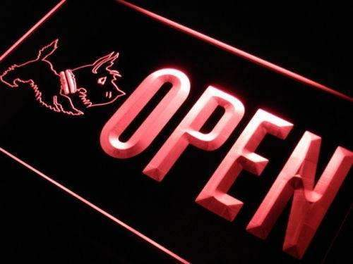 Scottie Dog Pet Shop Open LED Neon Light Sign - Way Up Gifts