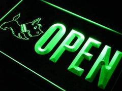 Scottie Dog Pet Shop Open LED Neon Light Sign