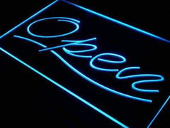 Script Open LED Neon Light Sign