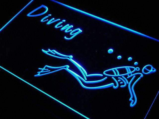 Scuba Diving LED Neon Light Sign - Way Up Gifts