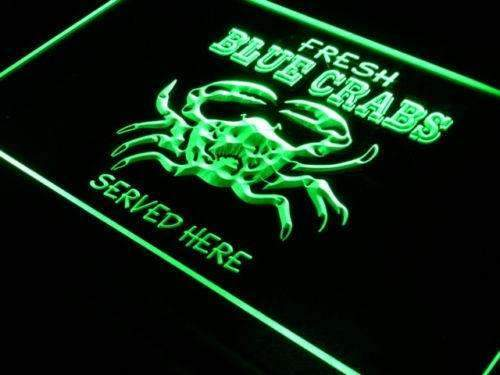 Seafood Fresh Blue Crabs LED Neon Light Sign - Way Up Gifts