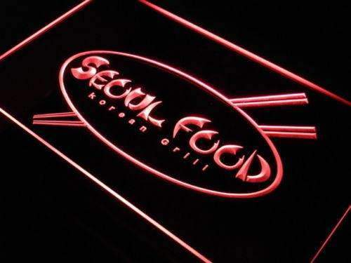 Seoul Food Korean Restaurant LED Neon Light Sign - Way Up Gifts