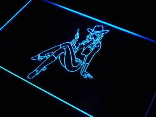 Sexy Cowgirl LED Neon Light Sign - Way Up Gifts
