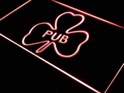 Shamrock Irish Pub LED Neon Light Sign - Way Up Gifts