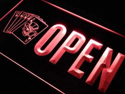 Skull Poker Bar Open LED Neon Light Sign - Way Up Gifts