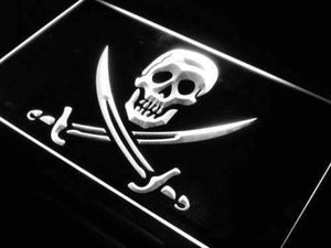 Skull Swords Pirate Neon Sign (LED)-Way Up Gifts