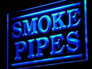 Smoke Pipes Neon Sign (LED)-Way Up Gifts