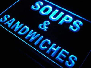 Soups Sandwiches Neon Sign (LED)-Way Up Gifts